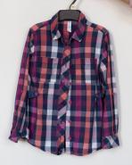 Dívčí košile kostkovaná
